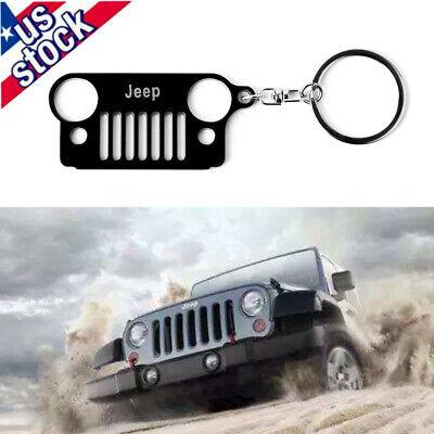 1Pc for CJ XJ YJ TJ JK Wrangler Jeep Head Front Grill Car Key Chain Ring US