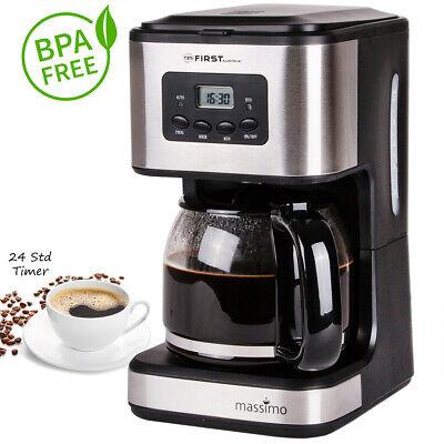 12 Tassen Filterkaffeemaschine Timer, Warmhalteplatte, Kaffeemaschine, Glaskanne