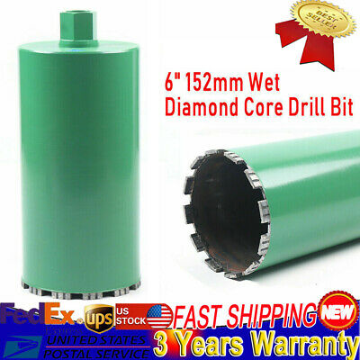 6 Inch Wet Diamond Core Drill Bit For Concrete Masonry American Thread Premium