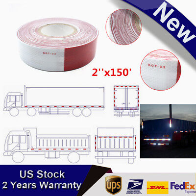 2x150 Dot-c2 Reflective Conspicuity Tape Safety Trailer Truck 6red6 White