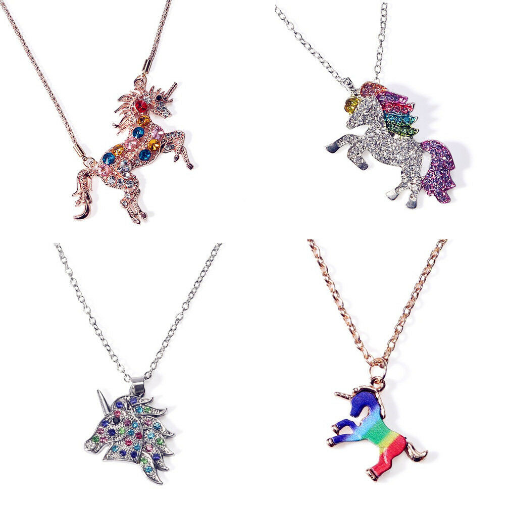 Jewellery - Magical Unicorn Charm Pendant Mythical Flying Horse Necklace Chain Jewelry Gift