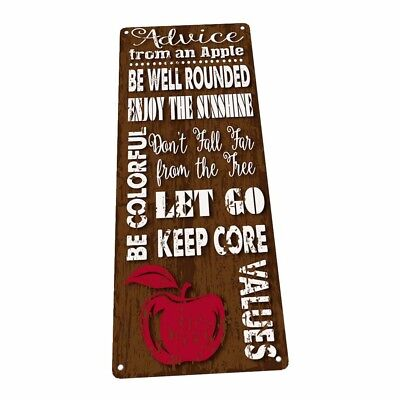 Decorate An Office (Advice From an Apple Metal Sign; Wall Decor for Office or Meeting)