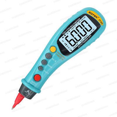 Zotek Zt203 6000 Counts Pen-type Digital Multimeter True Rms Auto Range Dcac