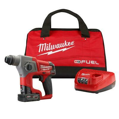 Milwaukee 2416-21xc M12 Fuel 12-volt 58 Brushless Cordless Rotary Hammer Kit