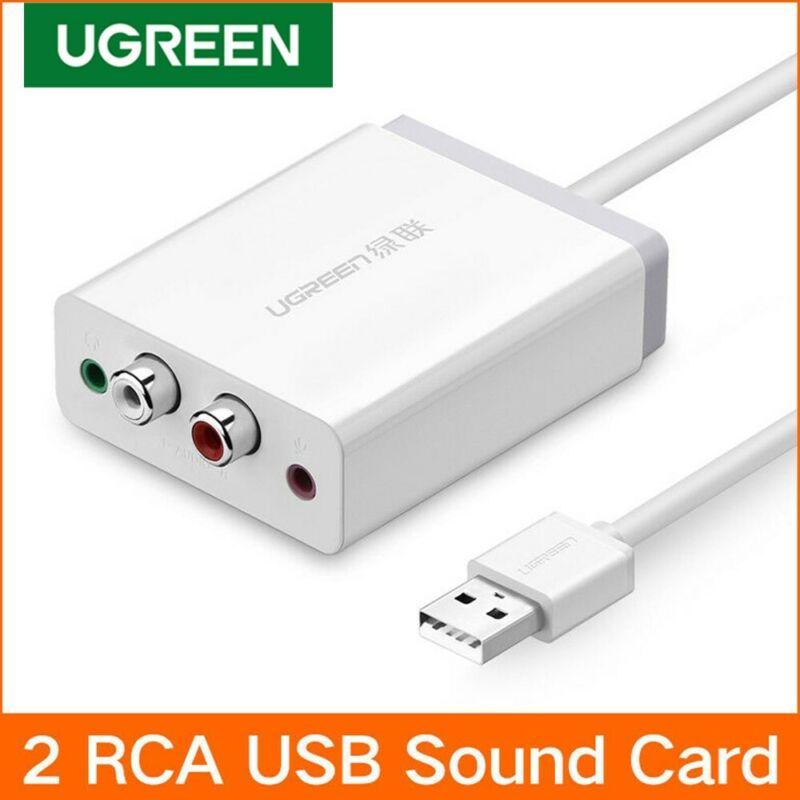 Ugreen USB External Stereo Sound Card Audio Adapter 3.5mm,2RCA Converter Fr PS5