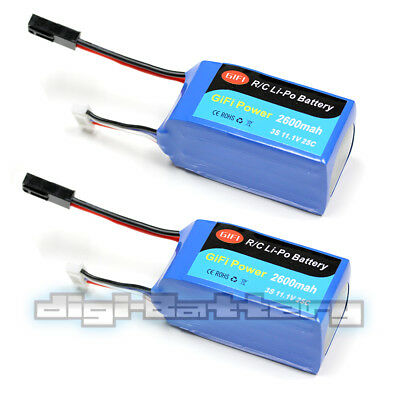 Non-OEM LiPo Battery 2600mAh HI-CAPACITY For PARROT AR.DRONE 2.0 & 1.0 25C (2PK)