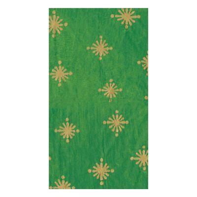 Caspari Paper Guest Towel Napkins, Starry Green, 2 Packs