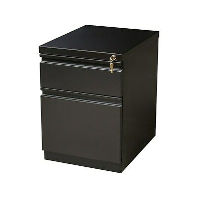 Staples 2-drawer Heavy Duty Mobile Pedestal File Cabinet Black 20-inch 592579