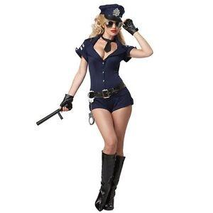 Damen Kostüm Polizeikostüm Blau Polizistin Cop Polizei Karneval  Gr. S-M 36/38