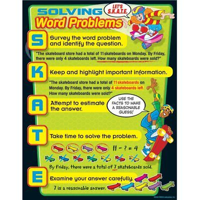 Solving Word Problems Learning Chart Trend Enterprises Inc. T-38241