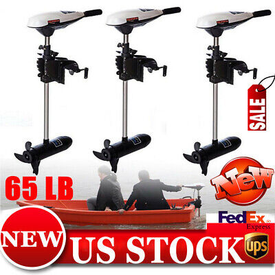 New! 65 LB Outboard Motor Engine Rubber Boat Electric Trolling Motor 12V 660W US