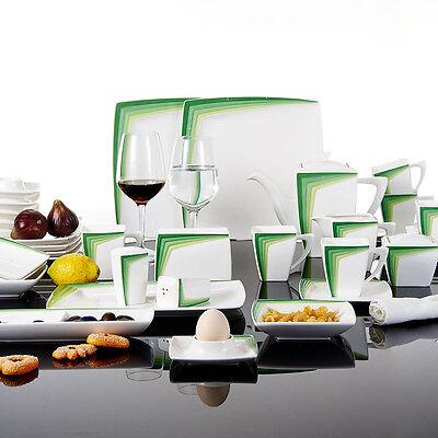 40tlg Porzellan Geschirrset Kombiservice Tafelservice mit Salz- und Pfefferdosen