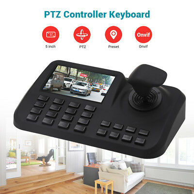 PTZ Keyboard Controller Joystick CCTV Security Speed Onvif For IP Camera 5 Inch