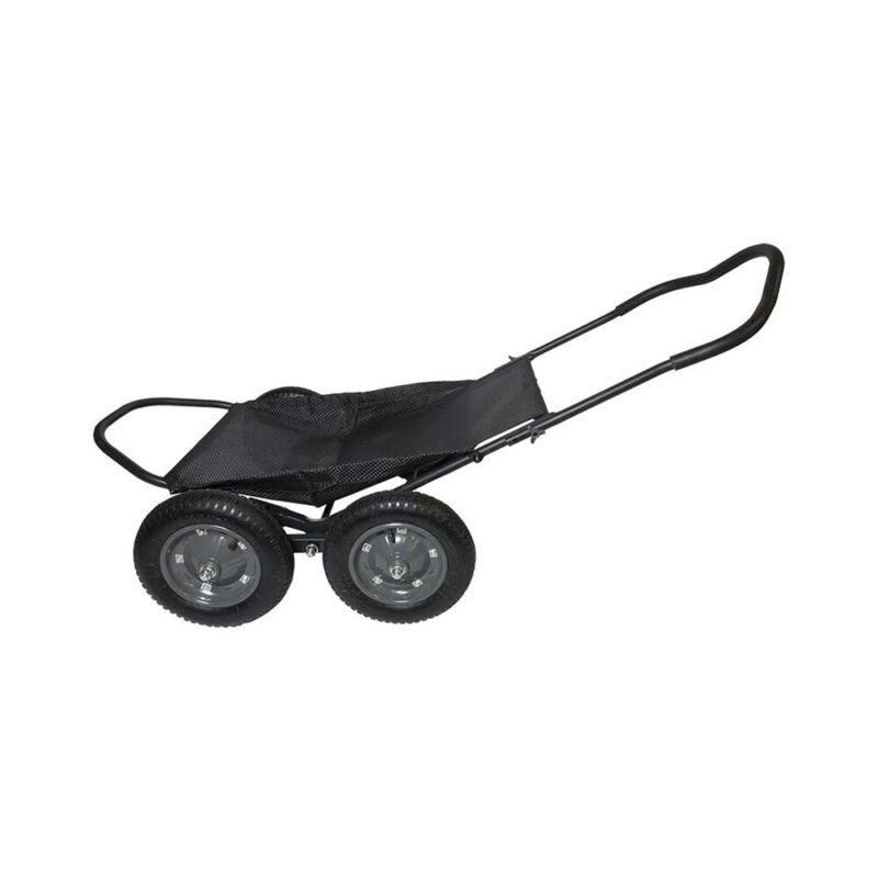 Hawk Crawler 500 Lb. Capacity Foldable Multi Use Deer Game Recovery Cart, Black