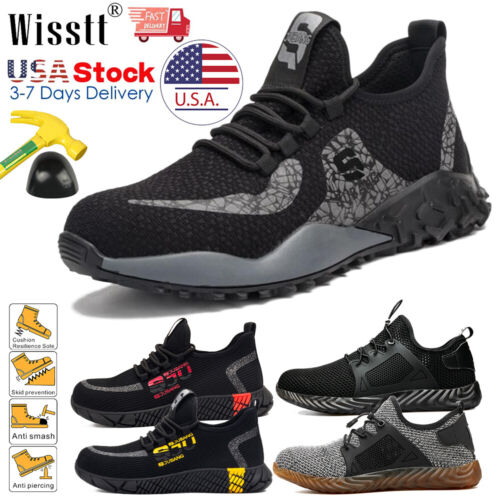 Men's Work Safety Shoes Steel Toe Boots Indestructible Light