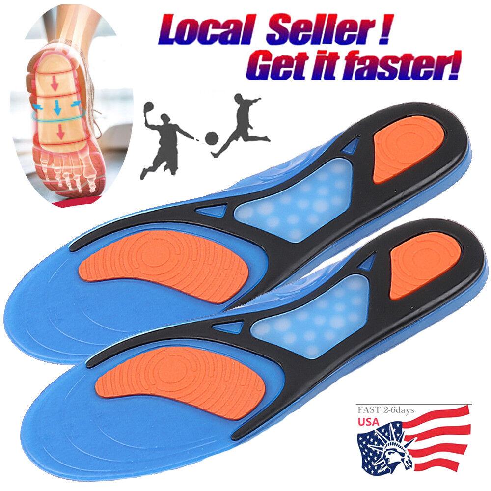 Unisex Gel Orthotic Sport Run Insoles Insert Shoe Pad Arch S