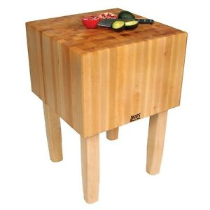 john boos commercial aa butcher block table hard maple 50