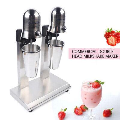 560w Commercial Double Head Milkshake Maker Machine Stainless Steel 110v 60hz