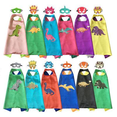 Kid Dinosaur Costume (Dinosaur Costumes Superhero Cape and Masks Kids Halloween Birthday Party)