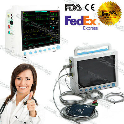 Icu Ccu 12 Patient Monitor 6 Parameter Medical Patient Monitor2-6 Days Arrive