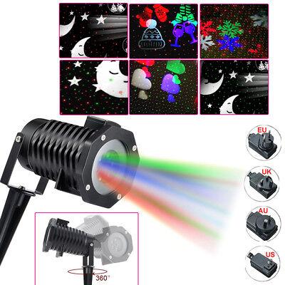 LED Landscape Light Snowflake/Moon/Star/Love heart Laser Projector Disco Xmas DJ - Snowflake Light