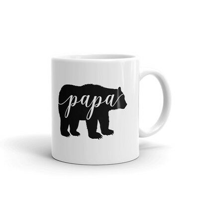 Papa Bear Father Dad Daddy Coffee Tea Ceramic Mug Office Work Cup Gift Bear Ceramic Coffee Mug