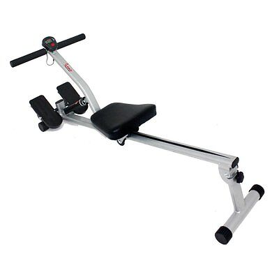 Sunny Health & Fitness Rowing Machine, Silver