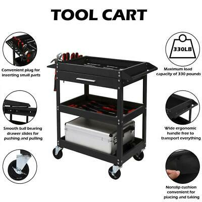 330lbs Heavy Duty Rolling Tool Cart W/Wheels & Drawer Servic