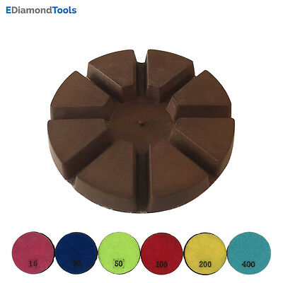 3 400 Grit Metal Bond Diamond Polishing Pad For Concrete Floor 3pcs