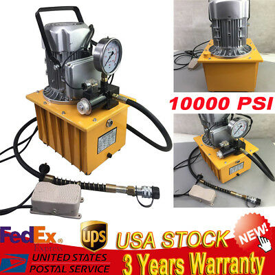 110v 700bar Electric Hydraulic Pump Power Pack 2 Stage Single Acting 10k Psi Usa