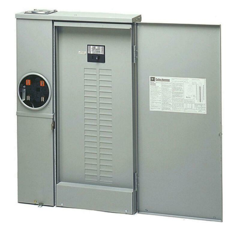 Eaton Combination Meter Box Distribution Panel 200 Amp 40 Space 40 Circuit Cover
