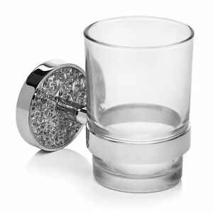 Mosaic silver bathroom tumbler toothbrush holder bath room for Mosaic bathroom accessories