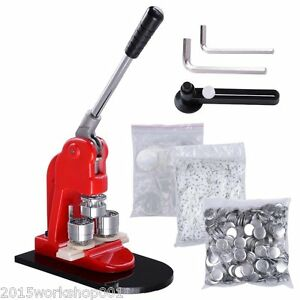 Hotsale 32mm Button Maker Machine Badge Press+1000 Button Supply+ Circle Cutter