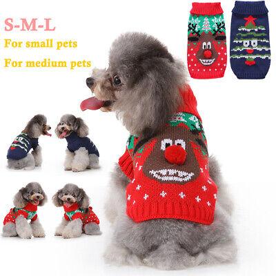 Hunde Katze Pullover Kostüm Rentier Elk Weihnachten Hundekleidung Strickpullover