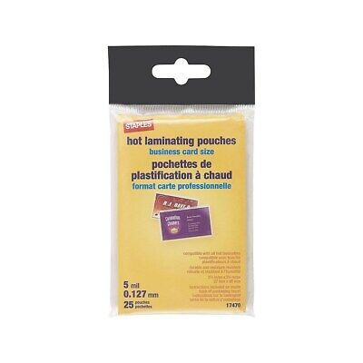 Staples 5 Mil Pouch Business Card 25pack 17470 793745