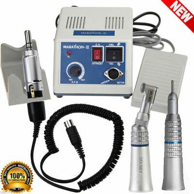 Dental Lab Marathon Micro Motor 35k Rpm N3 Straight Contra Angle Handpiece Usa