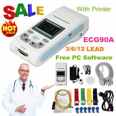 Ecg90a Touch Single Channel Ecg Machine 12 Lead Ekg With Pc Softwareusa Fedex