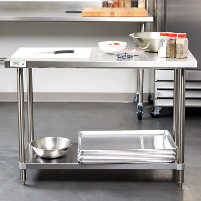 Heavy Duty 24 X 48 All Stainless Steel Work Prep Table Commercial 16 Gauge Nsf