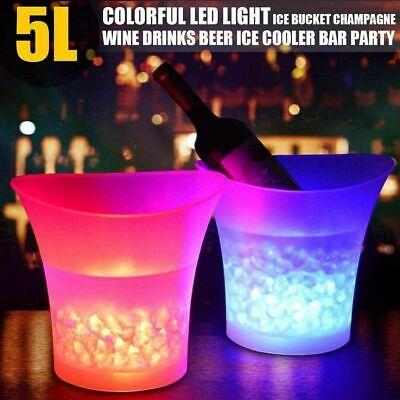 7 Farben LED Eiskübel 5L Wein Champagner Bier Trinken Behälter Party Bar