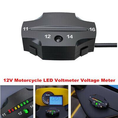 12v Motorcycle Mini Led Light Display Voltmeter Voltage Meter Guage Volt Tester