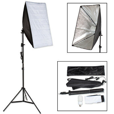 ILLUMINAZIONE SET STUDIO FOTOGRAFICO LAMPADA FLASH KIT SOFTBOX STATIVO +BORSA