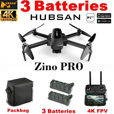 Hubsan Zino Pro Drone 4K Camera Photography Quadcopter-5G 4.5KM FPV+3Battery+Bag