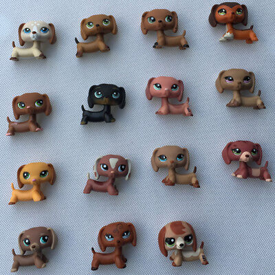 5pcs/lot Random LPS Dachshund Dog Littlest Pet Shop toys Christmas gift