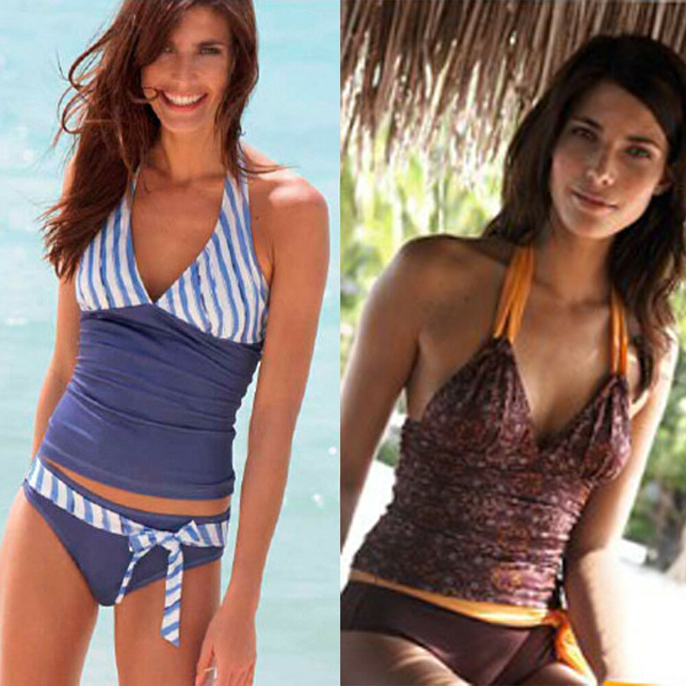 Damen Bikini Tankini Set L 42/44 Schmimmanzug Badeanzug Bademode