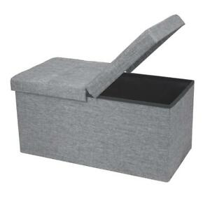 "NEW Otto  Ben 30"" Storage Ottoman with Smart Lift Top, Folding Foot Rest Stools Condition: New"