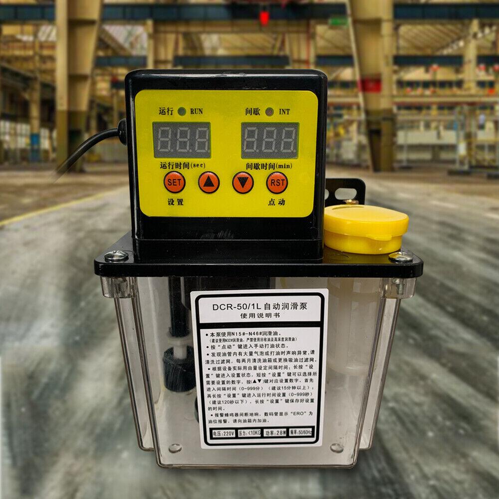 1L Lubricant Pump Auto Lubricating Oil Pump CNC Electromagnetic Lubrication 110V