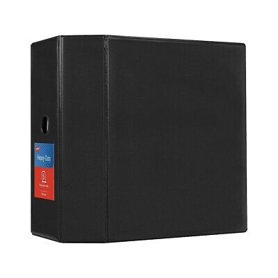 Staples Heavy-Duty 5-Inch D 3-Ring Non-view Binder Black  97