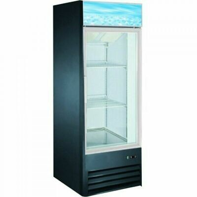 Coldline D238-b 27 Single Glass Swing Door Merchandiser Freezer - Black