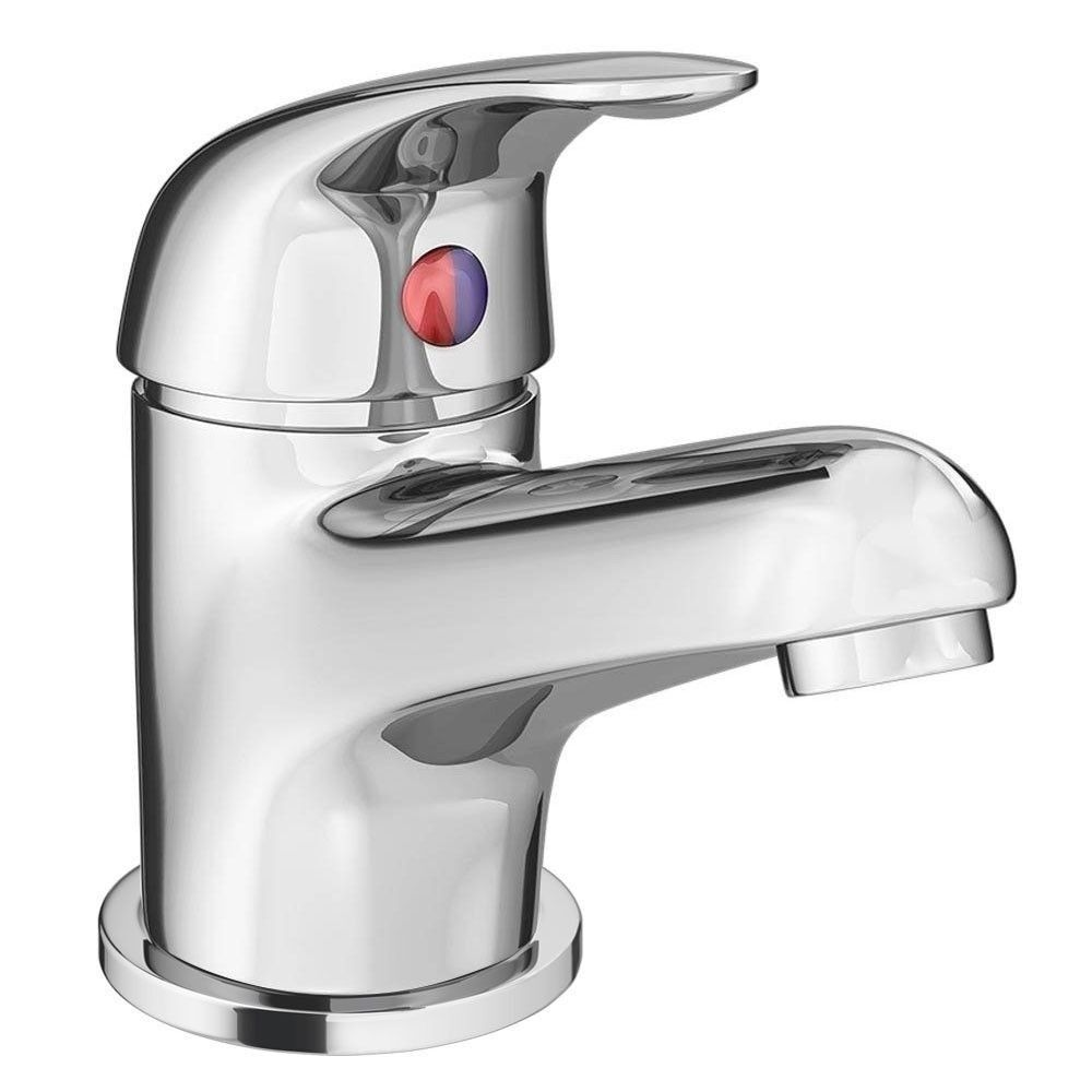 Modern Single Lever Basin Tap with Waste - Chrome - DTY305 | in ...
