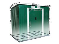 New Metal Garden Shed Pent Tool Storage Shed Summer House 6 X 4